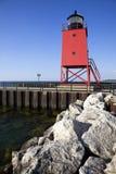 南charlevoix的码头 免版税库存照片