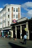 南Kensington地铁车站在伦敦 库存图片