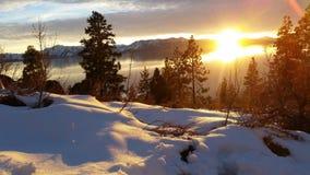 南Tahoe日落 免版税图库摄影