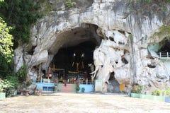 南Thialand Bootest寺庙洞 库存图片