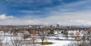 博伊西公园和地平线冬天 库存照片