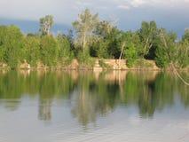 博伊西Cascade湖反射 免版税库存图片