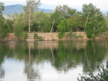 博伊西Cascade湖反射 库存照片
