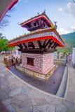博克拉,尼泊尔- 2017年9月04日:Tal Barahi寺庙,位于Phewa湖的中心,是最重要的 库存图片