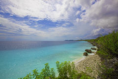 博内尔岛海岸线 库存图片