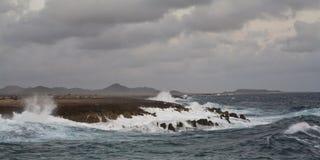 博内尔岛海岸 免版税库存图片