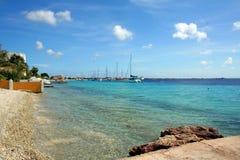 博内尔岛海景 库存照片