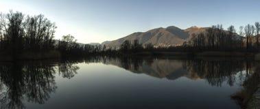 博列di Magadino, Maggiore湖-瑞士 免版税库存照片