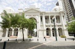 博利瓦厄瓜多尔政府瓜亚基尔宫殿 免版税库存照片