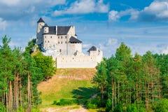 博博利采,波兰- 2017年8月13日:博博利采中世纪城堡在一个晴天 库存照片