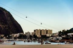 博塔福戈海滩的看法,与著名S的底部 库存图片