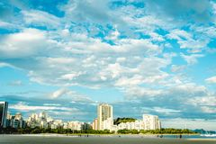 博塔福戈海滩风景视图  库存照片