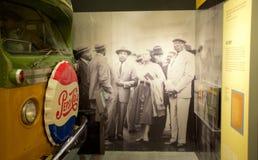 博士 在全国民权博物馆里面的马丁路德金展览洛林汽车旅馆的 免版税库存照片
