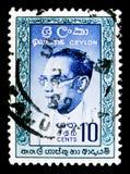 博士 所罗门西部里奇韦Dias班达拉奈克(1899-1959),头等M 库存图片