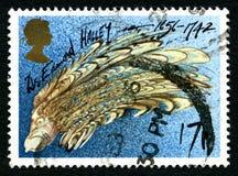 博士 爱德蒙・哈雷英国邮票 免版税库存照片