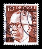 博士 H C 古斯塔夫・海涅曼(1899-1976),第3位联邦总统,serie,大约1970年 皇族释放例证