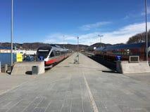 博多火车站在挪威 免版税库存照片