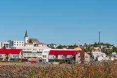 博尔加内斯镇在冰岛 免版税库存图片