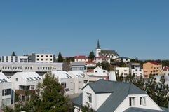 博尔加内斯镇在冰岛 图库摄影