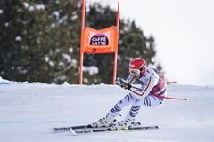 博尔米奥freeride滑雪世界杯12/28/2017 图库摄影