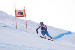 博尔米奥freeride滑雪世界杯12/28/2017 免版税图库摄影