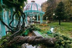 博尔若米, Samtskhe-Javakheti,乔治亚 博尔若米矿泉水的温泉 库存照片