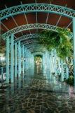 博尔若米, Samtskhe-Javakheti,乔治亚 对亭子的曲拱入口 库存图片