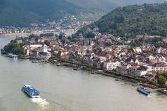 博帕尔德酒村庄莱茵河的 免版税库存图片