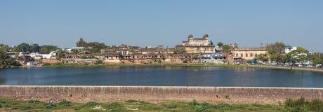 博帕尔的全景视图,城市在印度 库存照片