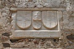博德鲁姆中世纪城堡的细节  免版税库存图片