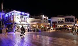 博德鲁姆酒吧街道在土耳其 免版税库存照片