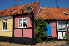 博恩霍尔姆的, Ronne,丹麦小屋 库存图片