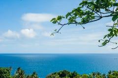 博拉凯海岛的看法  免版税库存照片