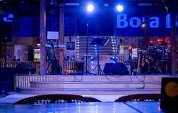 博拉博拉岛俱乐部 葡萄酒夜总会内部 库存照片