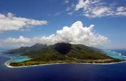 博拉博拉岛塔希提岛空气视图 库存图片