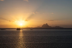 博拉博拉岛海岛在法属玻里尼西亚 免版税库存图片