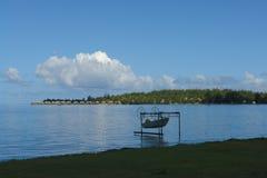 博拉博拉岛渔船 免版税图库摄影