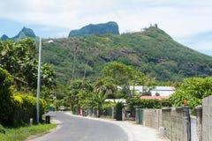 博拉博拉岛郊区邻里 免版税库存照片