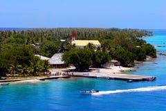 博拉博拉岛风景视图 免版税库存图片