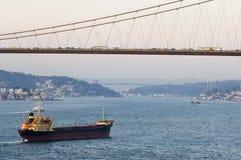 博斯普鲁斯海峡伊斯坦布尔火鸡 库存照片