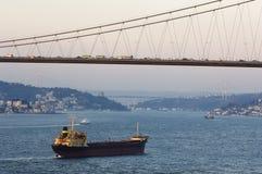 博斯普鲁斯海峡伊斯坦布尔火鸡 免版税库存照片