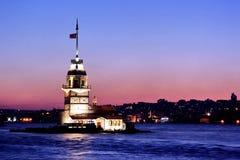 博斯普鲁斯海峡未婚塔 库存图片