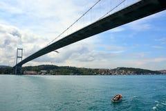 博斯普鲁斯海峡,伊斯坦布尔,土耳其看法和视域  图库摄影