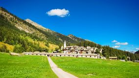 博斯科Gurin小村庄在提契诺州,瑞士 库存照片