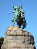 博格丹・赫梅利尼茨基的纪念碑在基辅,乌克兰 库存照片