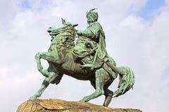 博格丹・赫梅利尼茨基的纪念碑在Kyiv,乌克兰 库存照片