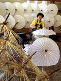 博桑队伞Changmai,泰国 免版税库存图片