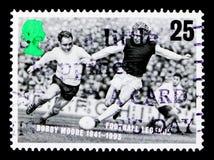 博比・摩尔1941-1993,欧洲橄榄球冠军serie,大约1996年 免版税库存图片