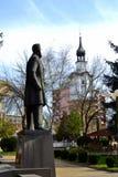 博泰夫格勒镇中心纪念碑 库存照片