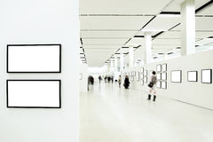 博物馆人剪影 库存图片